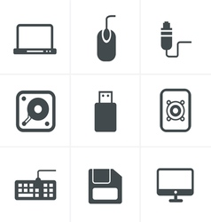 Computer Icons Set Design vector image