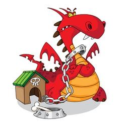 dangerous dragon vector image vector image