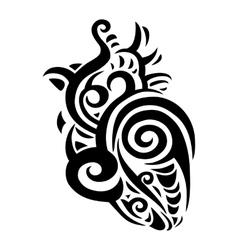 Decorative heart Ethnic pattern vector