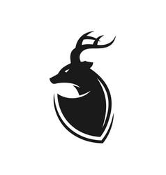 deer antler head logo vector image