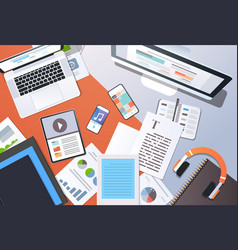 digital content management information technology vector image