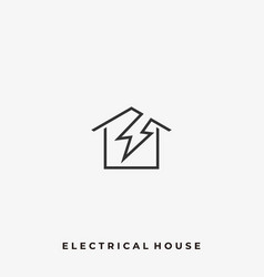 electrical house template vector image