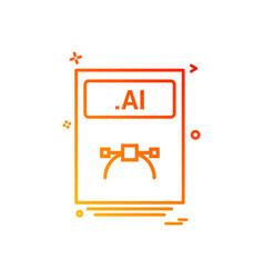 file files ai icon design vector image