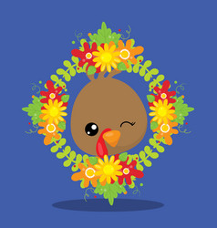 Gobble give thanks gobble wreath 03 vector