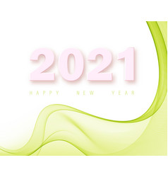 green abstract poster background new year 2021 vector image