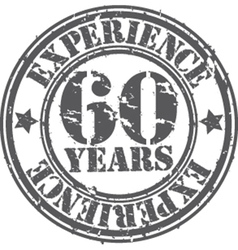 Grunge 60 years experience rubber stamp vector