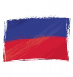 grunge Haiti flag vector image