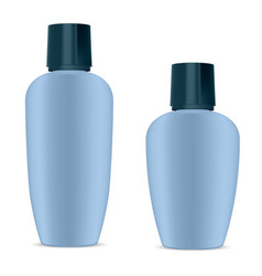 Hygiene cosmetics moisturizer set shampoo bottle vector