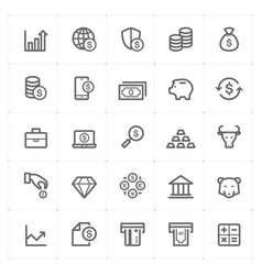 icon set - money and finance vector image
