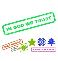In God We Trust Rubber Stamp vector image