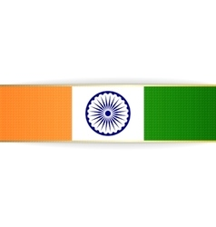 India patriotic badge and ribbon vector