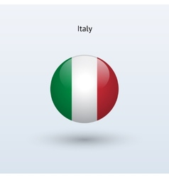 Italy round flag vector image