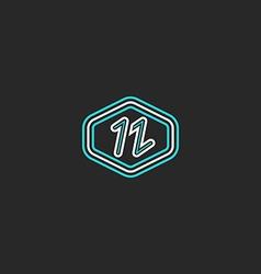 Letter N logo mockup monogram thin line design vector