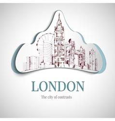 London city emblem vector image