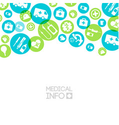 Medical treatment light background vector