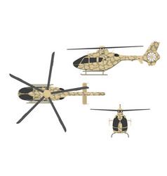 Military helicopter on white background vector