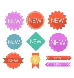 Modern flat labels vector image