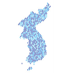 North and south korea map population people vector