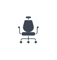 office chair related glyph icon vector image