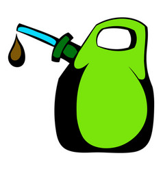 oil canister icon cartoon vector image