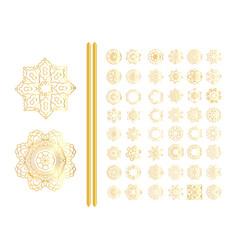 Oriental gold pattern se vector