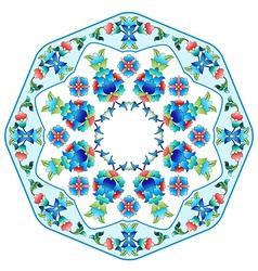 Ottoman motifs design series sixty five vector image