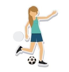person figure athlete soccer sport icon vector image