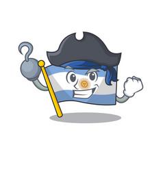 Pirate flag argentina cartoon shaped mascot vector