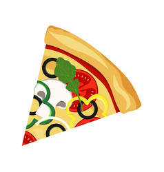 pizza slice isolated on white vector image