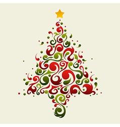 Plant ornamental christmas tree vector