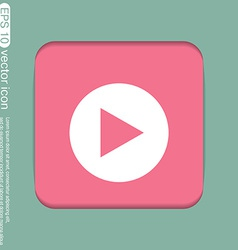 play web icon on background vector image