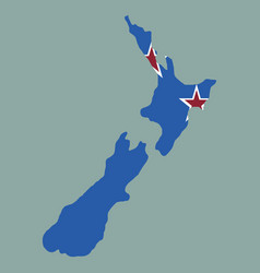 pop art map of newzealand vector image