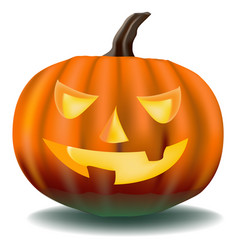 pumpkin with ominous eyes vector image