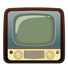 Realistic vintage TV on white background vector image