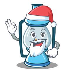 Santa lantern character cartoon style vector