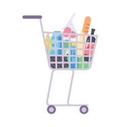 Shop product basket vector image vector image