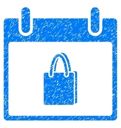 Shopping Bag Calendar Day Grainy Texture Icon vector