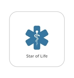 Star of Life Icon Flat Design vector image