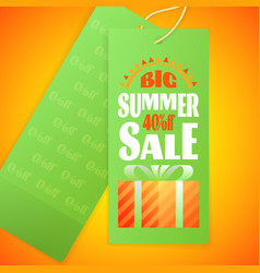 Summer sale letters design template sun gift box vector