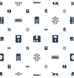 Supply icons pattern seamless white background vector