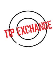 Tip exchange rubber stamp vector