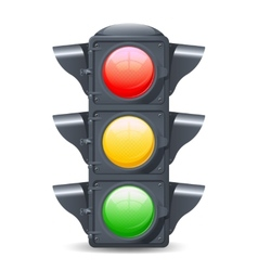 Traffic lights realistic vector