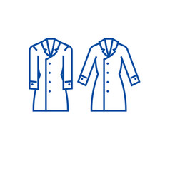 trench coat line icon concept trench coat flat vector image