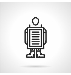 Walking advertisement black line icon vector image