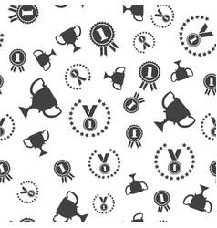 winner seamless pattern medal vector image
