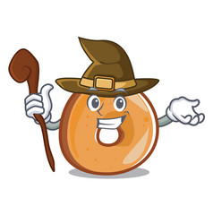 witch bagels mascot cartoon style vector image