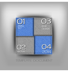 business four squares blue with text grain vector image vector image
