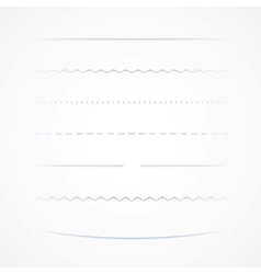 Dividers Isolated On White Background vector image vector image