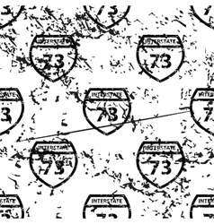 Interstate 73 pattern grunge monochrome vector image