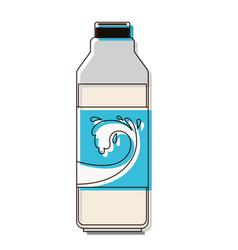 milk bottle icon in watercolor silhouette vector image vector image